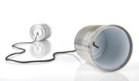 Photograph of a String-Can telephone