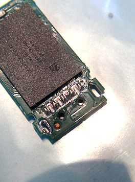 Photo of the damaged PCB.